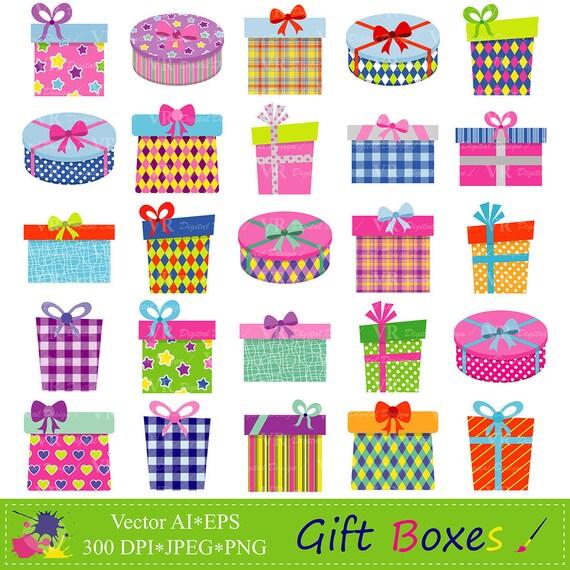 Unique Gift Boxes Clipart Gifts Clipart Presents Clip Art TJ08