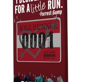 Forrest Gump -  race bib holder and medal hanger - i decided to go for a little run. gifts for runners