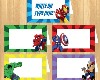 INSTANT DOWNLOAD - EDITABLE The Avengers Food Tent