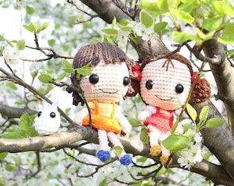 PATTERN: Satsuki, Mei, & Totoro Studio Ghibli Crochet Amigurumi Dolls