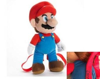 Super Mario Plush Backpack -  Kids - Monogrammed