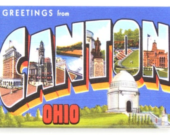Greetings from Canton Ohio Fridge Magnet
