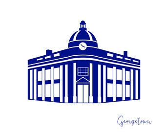 Washington DC Georgetown Boxed Card Stationery A2