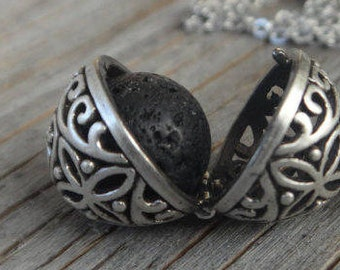Replacement lava stones for essential oil diffuser necklace. Lava stone 12 mm