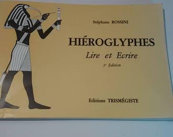 """Stéphane Rossini """"Hieroglyphen lesen und schreiben"""" Buch-Editionen Trismegistos"""