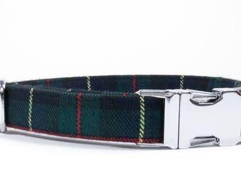 Plaid Dog Collar, Dog Collar, Tartan Dog Collar, Boy Dog Collar, Preppy Dog Collar, Plaid Collar, Dog, Male Dog Collar, Collar and Leash