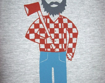 Men's - Paul Bunyan and Babe the Blue Ox t-shirt