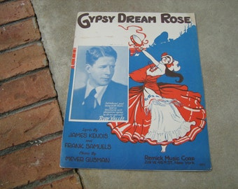 1929  vintage sheet music ( Gypsy Dream Rose )