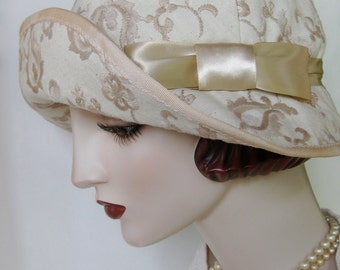 Embroidered Canvas Cloche