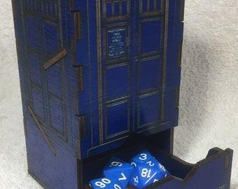 TARDIS Tower Dice Tumbler