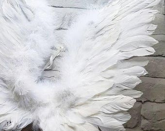 Feather angel wings, feathered wings,birthday,bird wings, Christmas, cupid, valentines day, halloween, feather wings, angel, angel wings