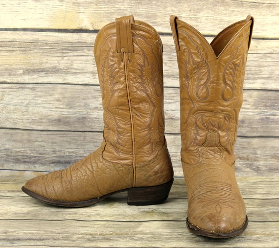 Tan Wide Mens Distressed EE Cowboy Size Lama Tony Leather Western Extra 9 Boots qTtWwv