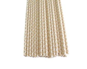 Peach Paper Straws 25 Count, Peach Damask Paper Straws, Peach Straws, Peach and White,  Baby Shower Straws, Bridal Shower Straws