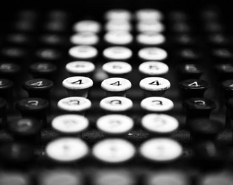 Black and White Keys Photographic Art Print, Wall Art for Home decor, 12 Sizes Available from Prints to Mounted Canvas