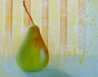 Small fruit painting, pear painting,
