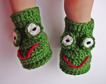 Crochet Baby Frog Booties, Crochet Frog booties, Crochet Baby Booties, Frog booties, Baby Boots, Crochet Baby Booties, Froggy booties