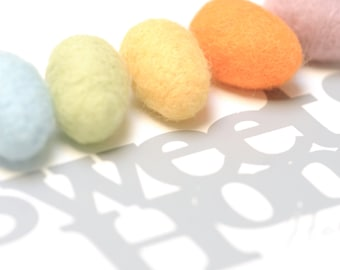 5 felted easter eggs egg easter basket easter deco decoration