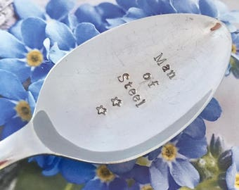 Handstamped Spoon - Upcycled EPNS Large Spoons