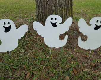 Outdoor Halloween Ghost Decorations, Glow in the dark Ghost, Halloween Yard Stake, Outside Halloween Decor, Halloween Ghost Decor, Halloween