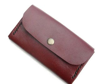 Leather coin purse, card holders, coin purses, leather pouches, leather purses, brown leather coin purse