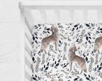 WOODLAND CRIB BEDDING. woodland baby bedding. woodland crib sheet. woodland bedding. wolf crib sheet. wolf blanket. wolf baby blanket.