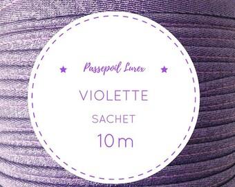 10 m Ultra Violet lurex piping bag