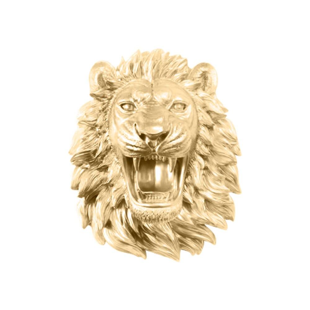 Roaring Faux Lion Head By Wall Charmers Faux Taxidermy Wall