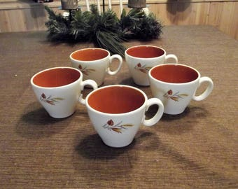 Taylor, Smith & Taylor *-* AUTUMN HARVEST *-* Ever Yours Line, Cups O-Handle, Set of 5