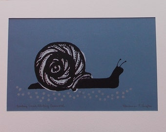 Smiling Snail Sliding Seaward, by Barbara Fernekes Hughes