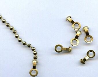 25 Brass Ball Chain Connectors