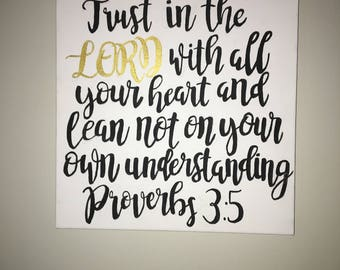 Hand Painted Bible Verse or Quote