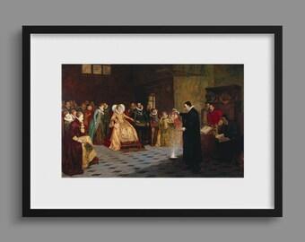 John Dee Performing An Experiment Before Queen Elizabeth I - Henry Gillard Glindoni