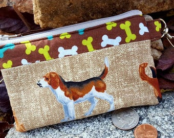 Dog Coin Purse, Puppy Zipper Wallet, Dog Change Purse, Earbud Pouch, Pocket Wallet, Kids Change Purse, credit card pouch