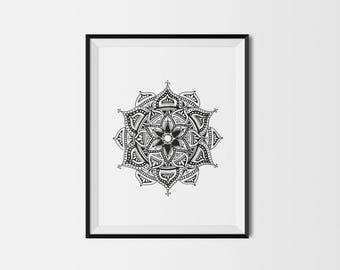 Dotty mandala | print | wall art | illustration | poster | giclée