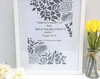 Framed wedding gift, wedding papercut, papercut, custom wedding quote, first anniversary gift, paper anniversary, unique wedding gift,