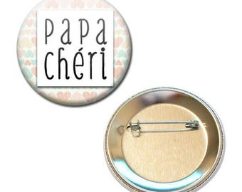 Badge 56 mm - Darling father parent child gift