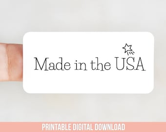 Made in the USA Packaging Sticker Design for Thermal Printers