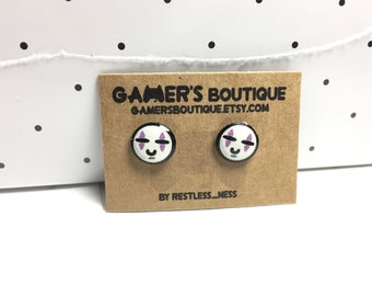 Spirited Away- Cute No Face Stud Earrings- Studio Ghibli Inspired- Stainless Steel, Glossy, Water Resistant Finish