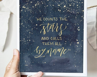 Counts the Stars Print