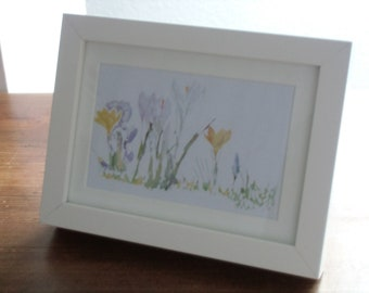 Illustrated watercolor Spring picture print Spring picture print 20 x 15 x 3 cm