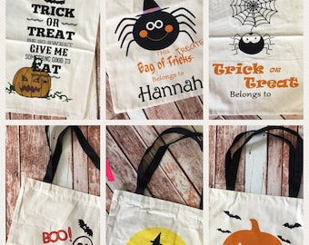 Personalized Halloween Candy Sack Bag