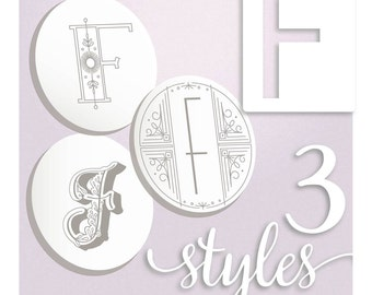Embroidery Patterns Modern Monograms Letter F hand embroidery patterns in three styles Alphabet Letter embroidery designs by SeptemberHouse