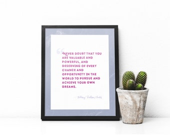Hillary Clinton Quote Print -Planned Parenthhod Donation - Feminist Print
