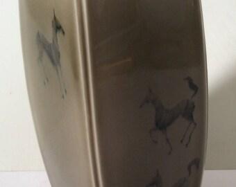 Vintage Edgar Johnson Studio Art Pottery Vase - Mid Century