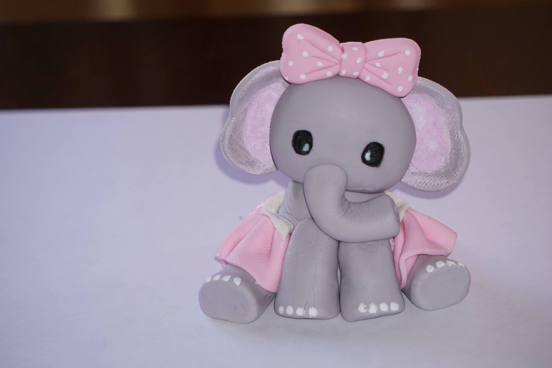 Fondant Baby Elephant Baby Elephant Cake Topper Fondant