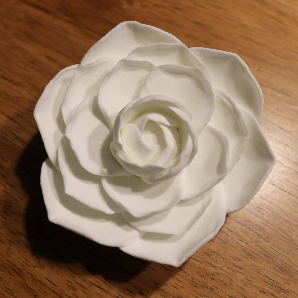 Camellia flower wedding cake topperwhite camellia cake toppergum 650 mightylinksfo