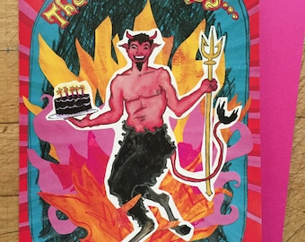Devil Birthday Card