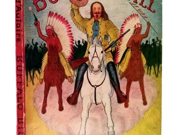 BUFFALO BILL by Ingri & Edgar Parin D'Aulaire, 1st Edition, Wild West, Americana, Cowboys