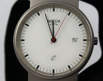 BOCCIA Men's All Titanium Watch is Water Resistant to 5 BAR