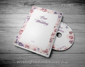 """Custom CD DVD Box, Personalised dvd Case - Wedding CD dvd Music Video Wedding Photographs dvd/cd Case, Cover and Disc. Printed Disc. """"N3"""""""